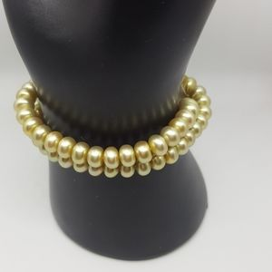 Honora Gold Colored Stretch Bracelet